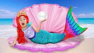 Boram muda de vestido para se tornar princesa sereia