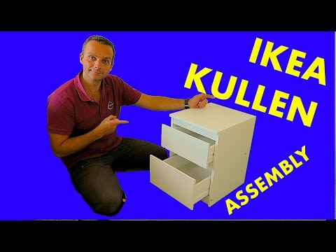 IKEA KULLEN Chest of 2 drawers assembly