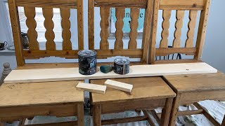 Making A Bench With Old Chairs + Stamping Cardboard | WNW