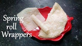 Veg Spring Rolls Wrap-रॉंल रैपर्स-Vegetables Spring Rolls Homemade Sheets-Easy & Quick Snack Recipe