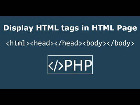 Display HTML Code In HTML Page