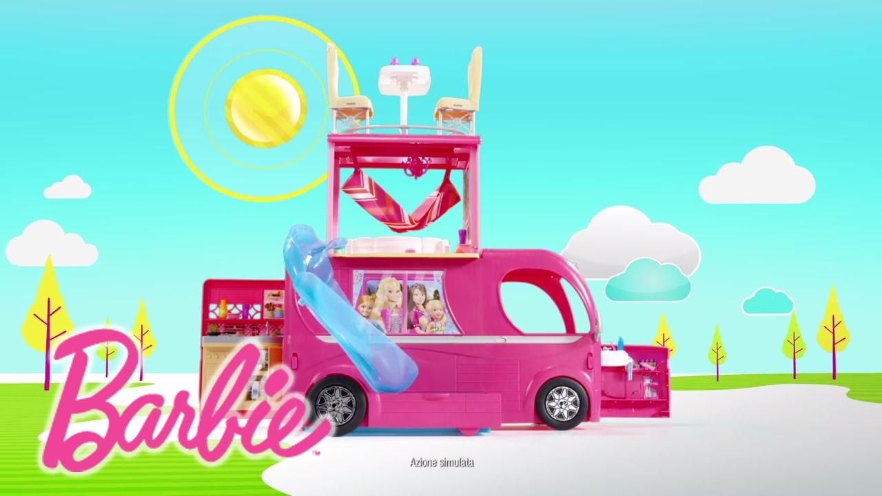 Letto Di Barbie Matrimoniale.Camper Di Barbie Barbie Youtube