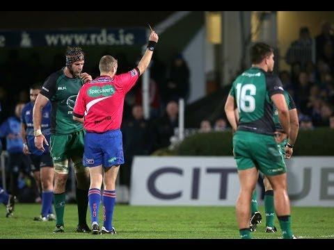 Ronan Loughney Yellow Card - Leinster v Connacht 26th Oct 2013