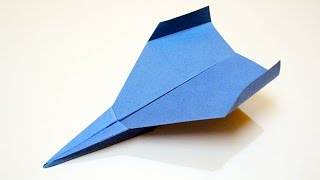 How to make a Paper Airplane - PAPER AIRPLANE that Flies for a Long Time
