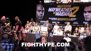 MAYWEATHER VS. MAIDANA 2 SAN ANTONIO PRESS CONFERENCE