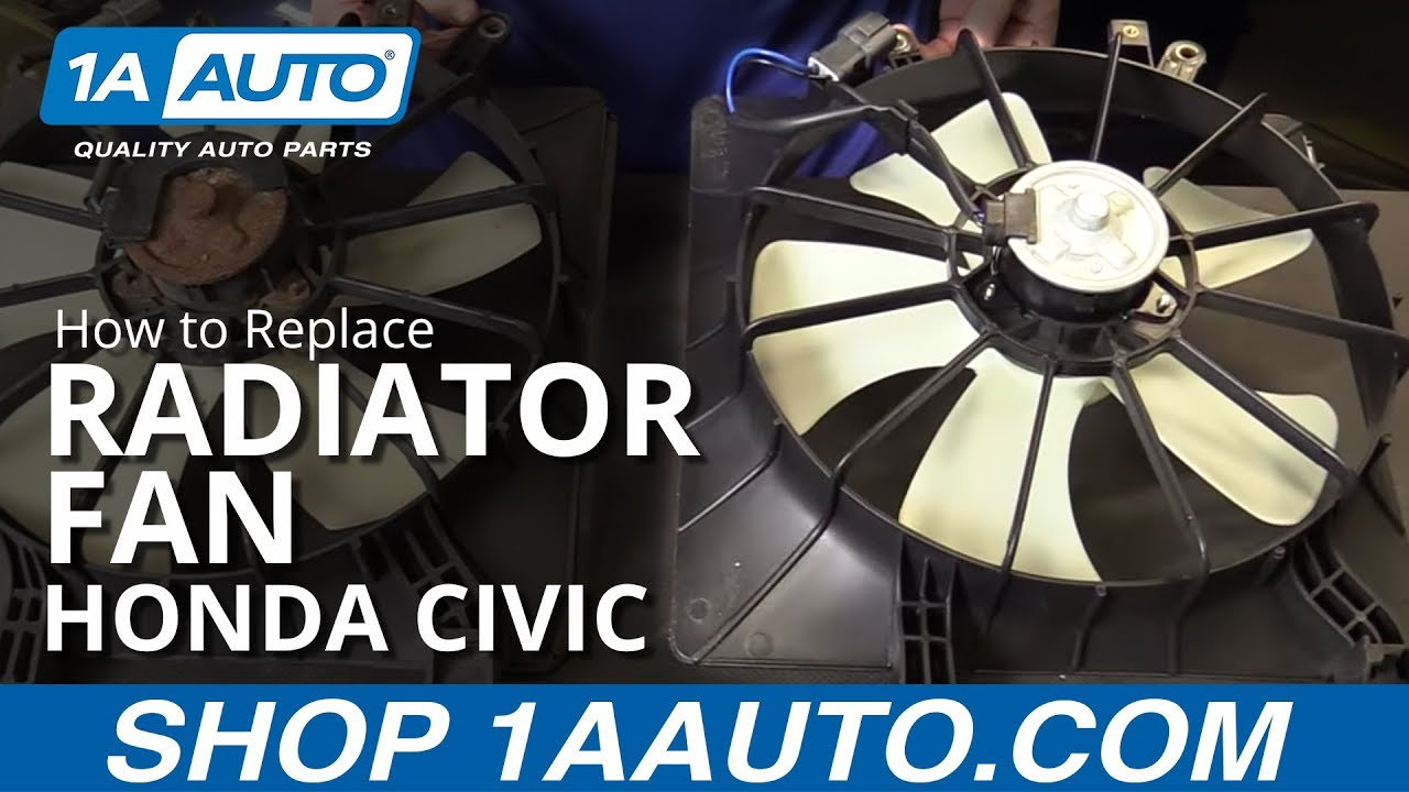 maxresdefault how to replace install radiator fan 2001 05 honda civic youtube  at creativeand.co