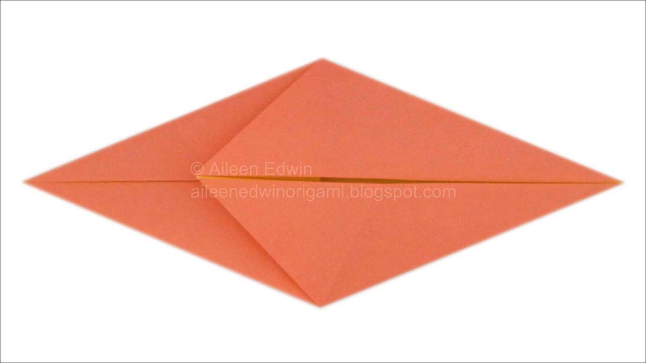 Origami Fish Base Video Tutorial *HD* - YouTube - photo#16