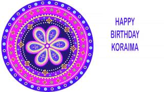 Koraima   Indian Designs - Happy Birthday