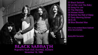 Black Sabbath - 1969.11.16 Scotland Earliest show documented Remaster HD