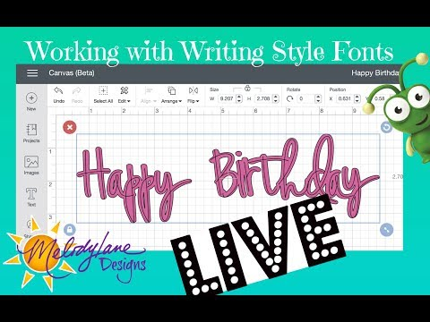 How to write on top of your cut font, using the Heidi Swapp font in Cricut Design Space 3 LIVE