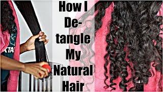 How I Detangle My Tangled and Knotted Natural Hair