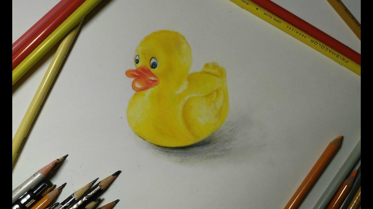 Как нарисовать резиновую утку