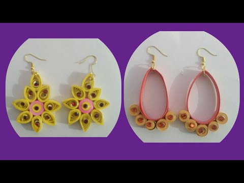 Paper Quilling ear ring ,DIY