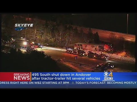 Tractor-Trailer Hits Several Cars On I-495 South Near I-93 In Andover