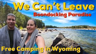 Free camping at a hİgh elevation (8000ft) PARADISE near Pinedale WYOMING!