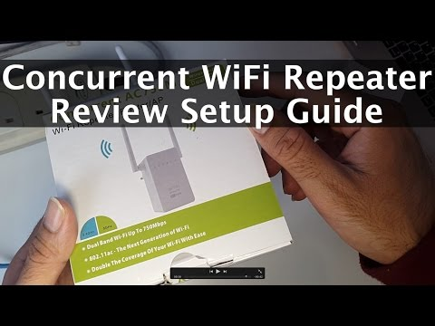 Wifi Repeater/AP Router Review & Setup by Pix-Link Concurrent