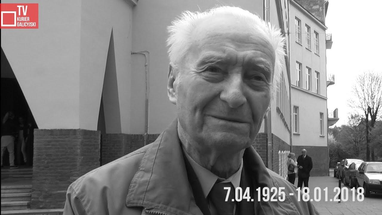 Śp.  Bolesław Opałek dla Kuriera Galicyjskiego w 2016 r.