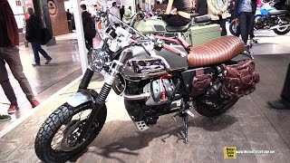 2015 Moto Guzzi V7 II Custom Bike - Walkaround - 2014 EICMA Milano Motocycle Exhibition