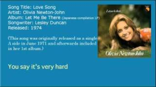 Olivia Newton-John - Love Song (LP version)