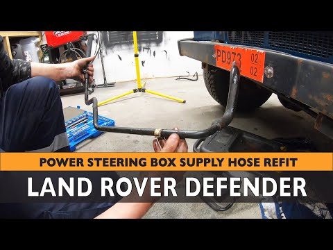How to install new Power Steering Pump Supply Hose on Land Rover Defender TD5