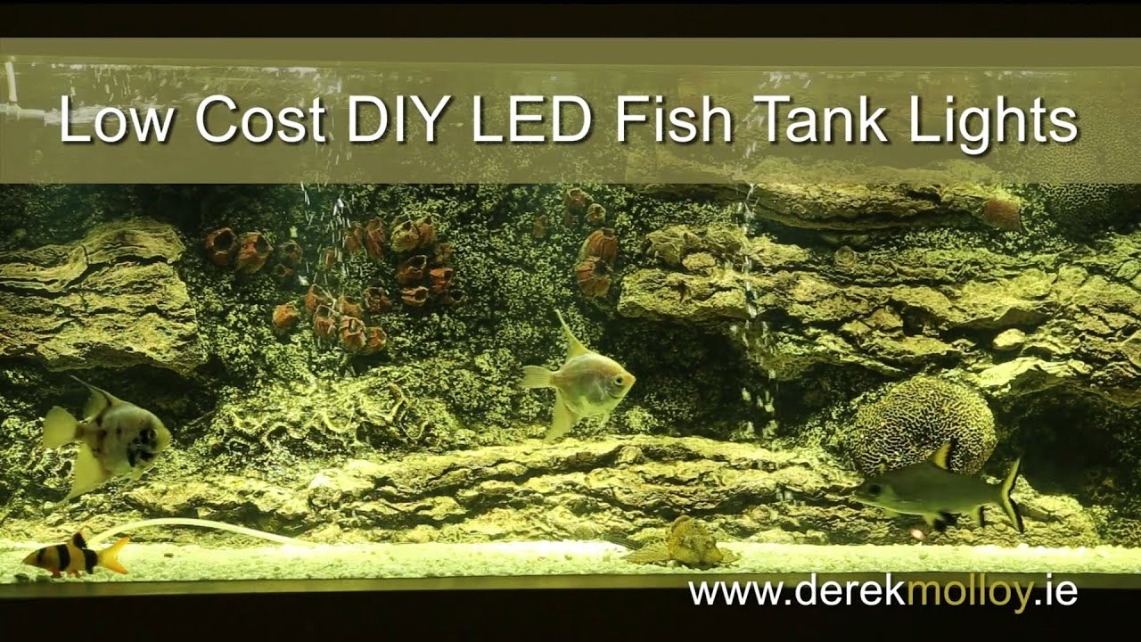 Aquarium diy led lights tutorial bright and low cost youtube mozeypictures Image collections