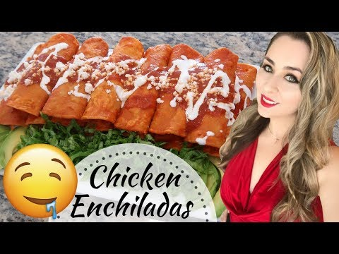 Enchiladas with Chicken & Cheese | Mexican Recipe