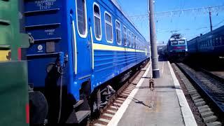 Отправление поезда Одесса-Львов. Станция Одесса-главная