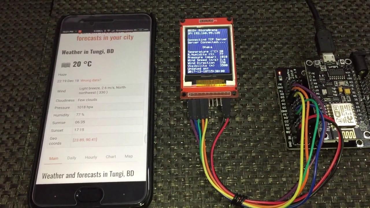 LibStock - NodeMCU (ESP8266) WiFi Web Client - OpenWeatherMap
