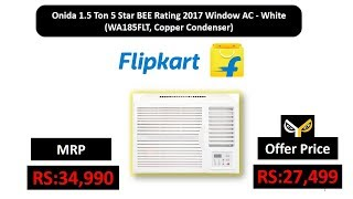 Onida 1.5 Ton 5 Star BEE Rating 2017 Window AC - White (WA185FLT, Copper Condenser)
