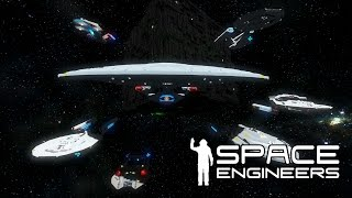 Space Engineers - The Federation Must Stop The Borg - Star Trek Last Stand