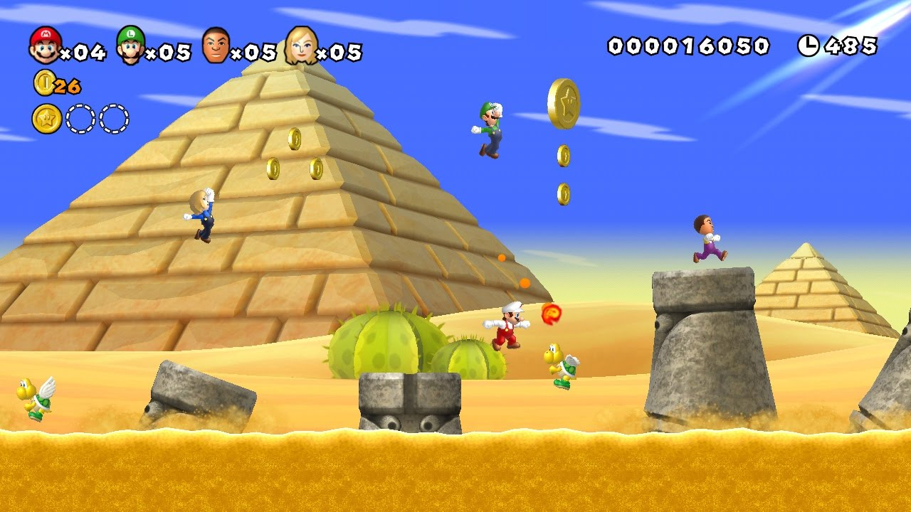 Piano New Super Mario Bros Wii Desert Background Music Youtube