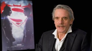 "Batman v superman ""alfred"" interview - jeremy irons"
