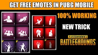 hOW TO GET FREE EMOTES IN PUBG MOBILE PUBG MOBILE FREE EMOTES TRICK  NEW TRICK