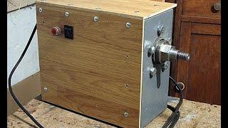 Токарный станок из стиральной машины автомат. Передняя бабка.(статья: http://shenrok.blogspot.com/p/blog-page_16.html Как сделать переднюю бабку токарного станка по дереву из мотора от стирал..., 2015-04-02T03:07:38.000Z)