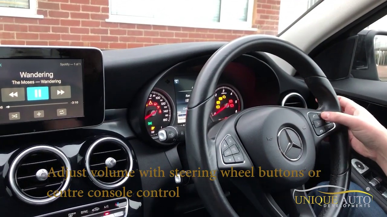 Mercedes W205 C Class/GLC 2015-2018 CarPlay Reversing Camera Navigation  Retrofit (Wireless CarPlay Options Available)