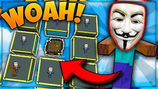 ILLEGAL ARMY Of BOTS Makes Me BILLIONS! | Minecraft Skyblock