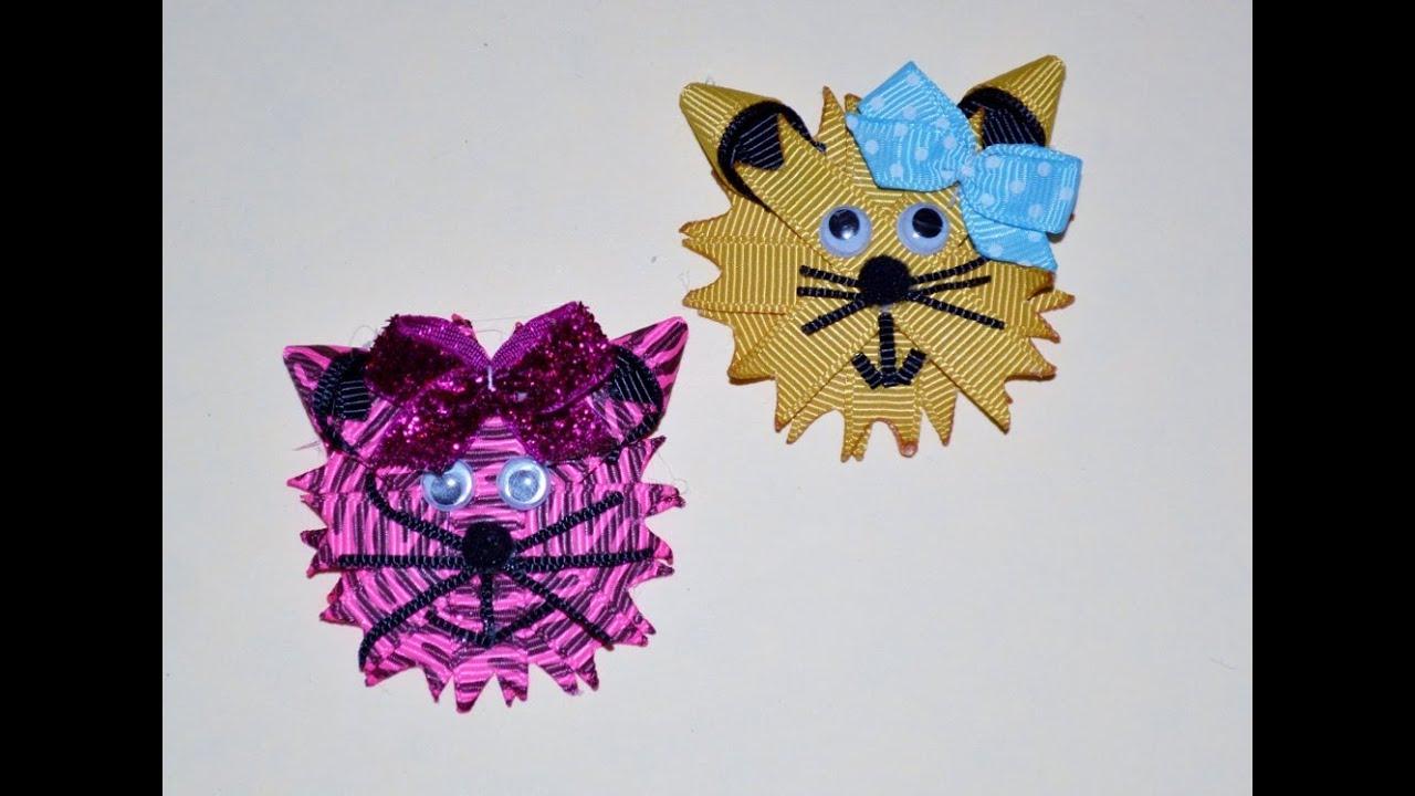 kitty cat kitten ribbon sculpture