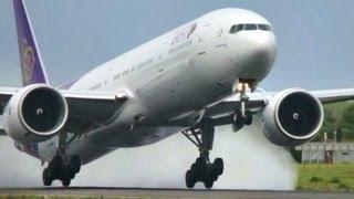 Super WET Boeing 777-300/ER Takeoff!! Thai Airways at Copenhagen Kastrup (HD1080p)