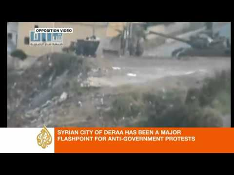 Syria: Deraa witness says 'snipers are everywhere'