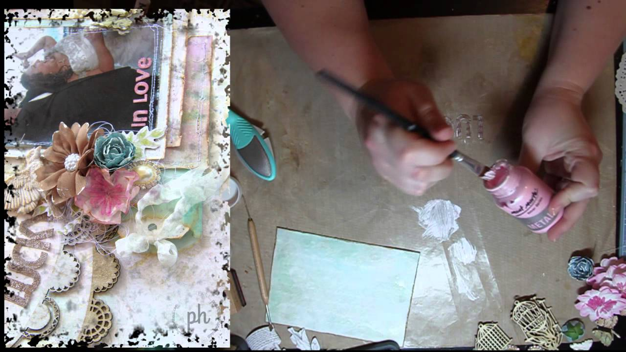 Scrapbook ideas tutorial - Shabby Chic Scrapbooking Techniques Ideas Tutorial With Amy Prior