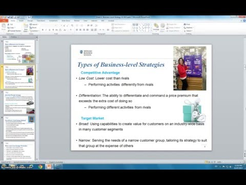 Business level Strategy- Purpose of Business-level Strategy