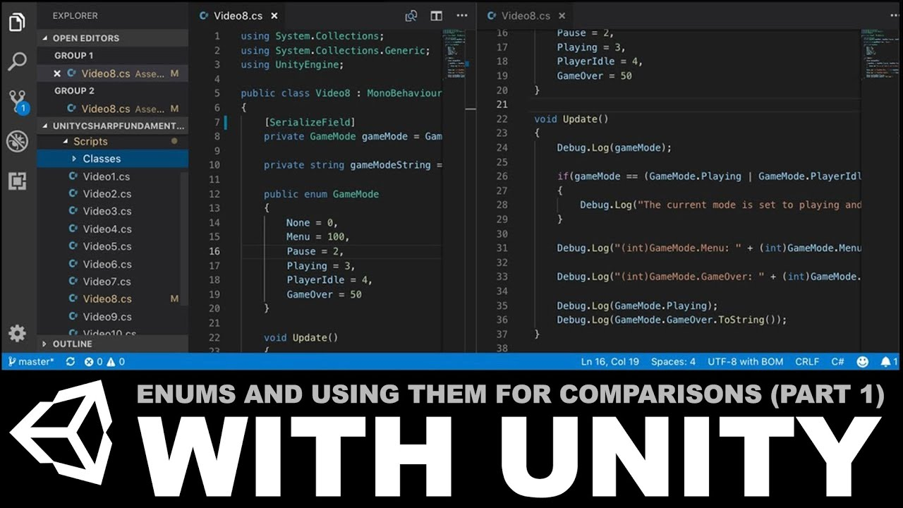 Unity C# Fundamentals - Enums and using them for logical comparisons