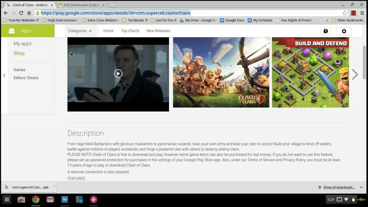 download clash of clans chromebook