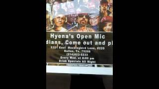 Hyenas Comedy Club, Dallas, tx 04/09/2016