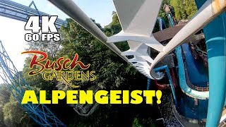 Riding Alpengeist Roller Coaster at Busch Gardens Williamsburg! Front Seat View!  Off-Ride View!