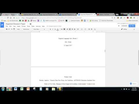 Formatting Cover Page and Body in Google Docs