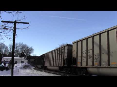 CSX U883 in Hi Def at Shenandoah Junction,WV on 12/13/13