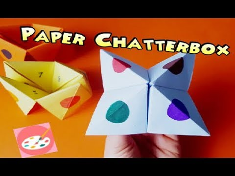 How to make a paper chatterbox youtube how to make a paper chatterbox maxwellsz