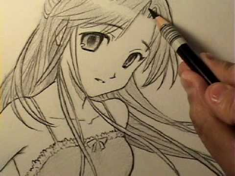 How to Draw an InnocentLooking Manga Girl [HTD Video #11]  YouTube