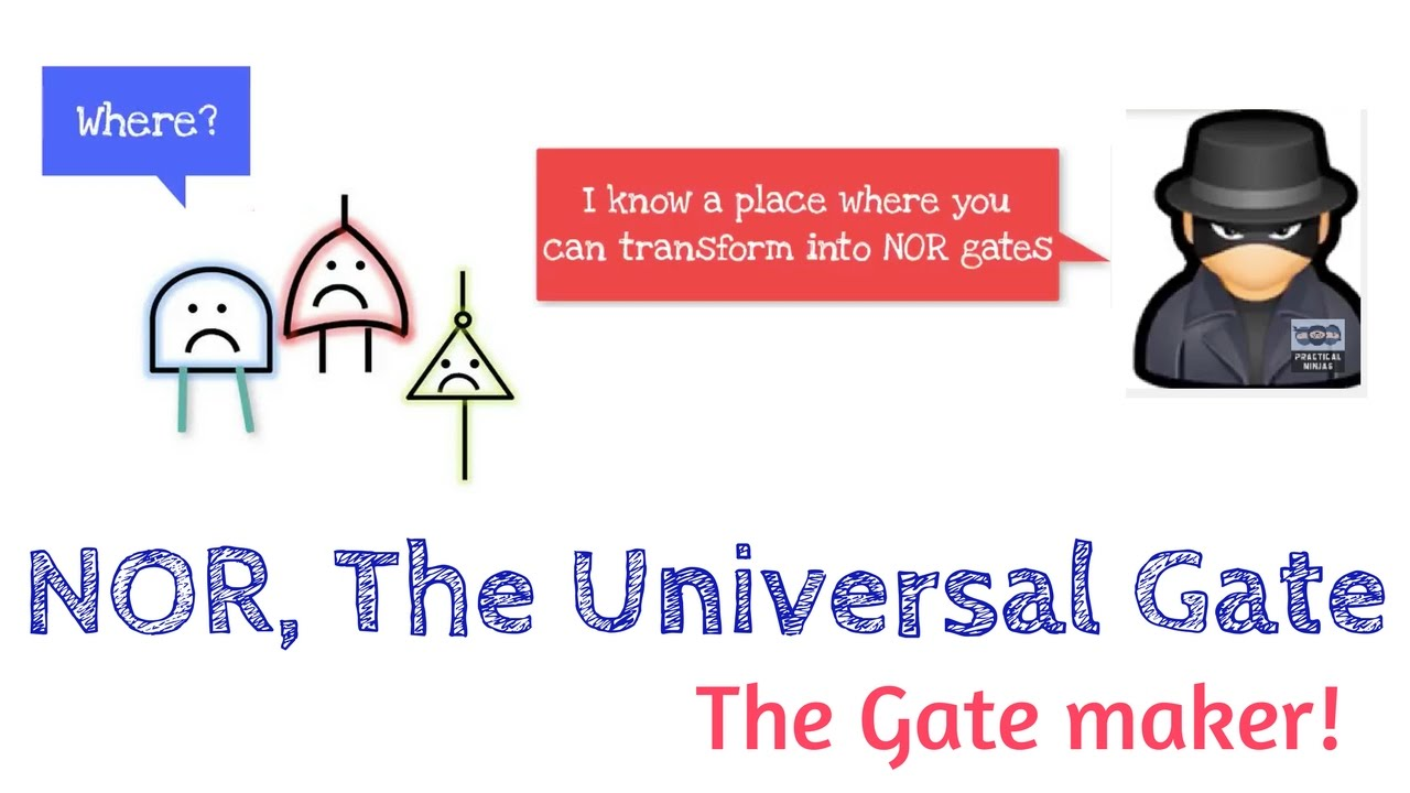 Nor Gate Universal How To Construct Different Gates Using Digital Logic Tutorial Basic De15